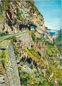Moderne Karte Col d Aubisque Basses Pyrenees Route thermale d Argeles a Eaux Bonnes