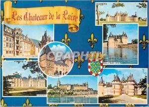 Moderne Karte Les Chateaux de la Loire Blois Chambord Sully sur Loire Chaumont Beaugency