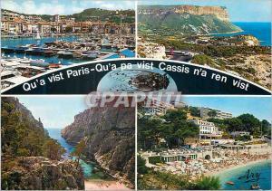 Moderne Karte Cassis Le Port Route de la Gineste Calanque d en Vau Plage de Bestouan