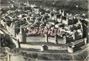Moderne Karte Carcassonne Aude Vue d ensemble de la Cite