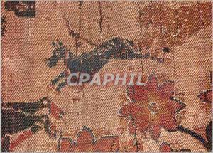 Moderne Karte Musees de Sens Tresor de la Cathedrale Fragment de soierie represent un guepard un chien un lion