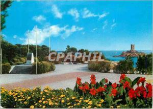 Moderne Karte La Cote d Azur Le Dramont Var Monument du Debarquement Au fond l ile d Or