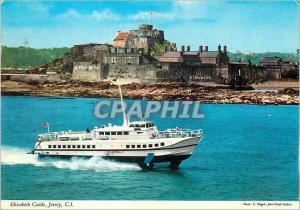 Moderne Karte Elizabeth Castle Jersey C I Bateau