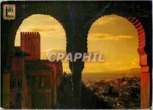 Moderne Karte Granada Alhambra Coucher de Soleil