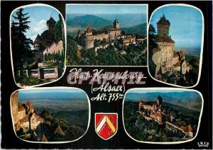 Moderne Karte Souvenir du haut Koenigsbourg Alsace (Alt 755 m)