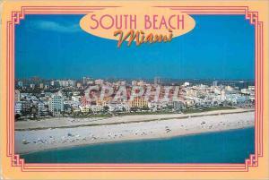 Moderne Karte South Beach Art Deco District Miami Florida