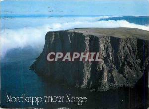 Moderne Karte Norway Nordkapp Norge Arctict Mist Drifting Towards the North Cape Plateau