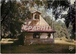 Moderne Karte La Lande Vieille Eglise Landaise avec son Clocheton en Bois et Son Porche Couvent