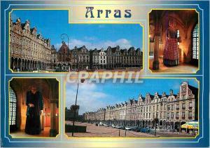 Moderne Karte Arras (Pas de Calais) La Grand place Les Geants d'Arras Colas et Jacqueline dans l'Hotel de Vill