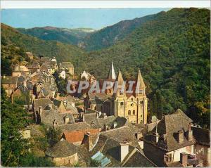 Moderne Karte Conques en Rouergue (Aveyron) Vue d'Ensemble