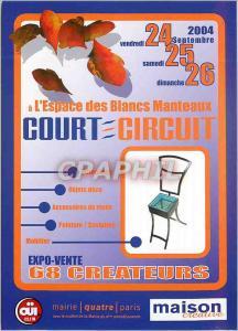 Moderne Karte L'Espace des Blancs Manteaux Court Circuit Expo Vente 68 Createurs Paris