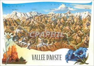Moderne Karte Vallee d'Aoste Hommage du Departement Regional du Tourisme Aoste