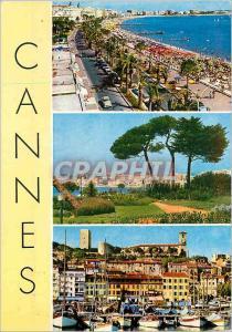 Moderne Karte Cannes 196 souvenir de cannes