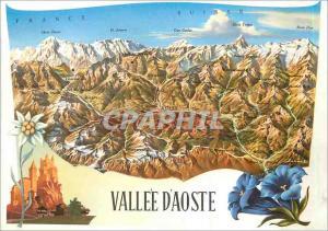 Moderne Karte Vallee d aoste