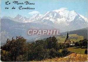 Moderne Karte E 670 la chaine du mont blanc(4807 m) vue de combloux(haute savoie)