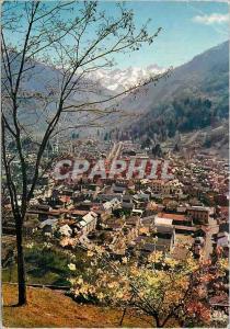Moderne Karte Luchon la reine des pyrenees 9 vue generale de la station au fond le massif de venasque (alt 241