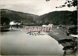 Moderne Karte L auvergne br int 186 lac chambon la plage peche barques pedalos et natation
