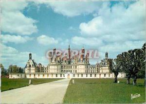 Moderne Karte Les merveilles du val de loire chambord (loir et cher) h 1816 le chateau (xvi s) la facade sud e