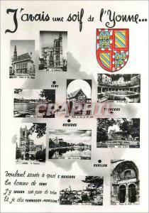 Moderne Karte J avais une soif de l yonne Sens Tonnerre Auxerre Avallon