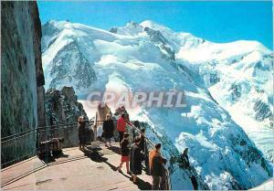 Moderne Karte Chamonix mont blanc Le massif du Mt Blanc