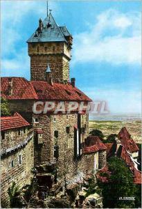 Moderne Karte 6756404 le chateau du haut koenigsbourg (bas rhin) le donjon et vue sur la plaine d alsace