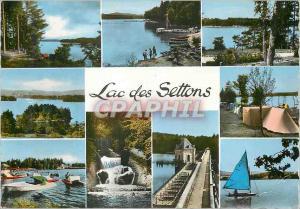Moderne Karte Lac Des Settons Vue sur le Lac L Embarcadere Pedalo