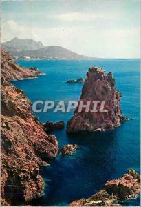 Moderne Karte Reflets de la Cote d Azur Corniche d Or Les Rochers du Dramont La Cathedrale