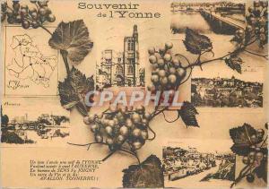 Moderne Karte Souvenir de l Yonne Auxerre Joigny Tonnerre