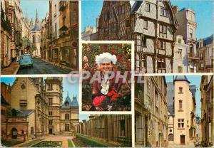 Moderne Karte Angers Maine et Loire La Cite Les Tours de la Cathedrale vues de la rue Aubin La Maison d Adam p