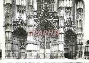 Moderne Karte Tours Cathedrale Saint Gatien Portails de la facade occidentale