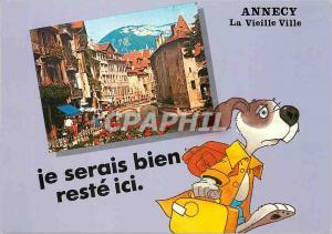 Moderne Karte Annecy Haute Savoie La Vieille Ville Chien Je serais bien reste ici