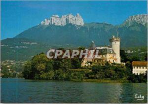 Moderne Karte Images de Chez Nous Lac d Annecy Haute Savoie Le Chateau du Duingt origine xie s En fond les Den