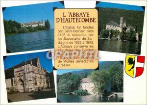 Moderne Karte Images de Chez Nous Sur les rives du Lac Bourget Savoie L Abbaye d Hautecombe La Facade sud