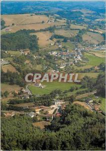 Moderne Karte La France vue du ciel Boisset Cantal Vue generale