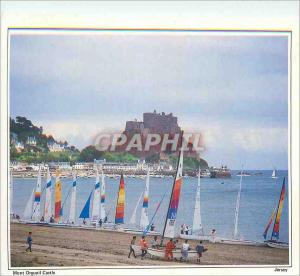 Moderne Karte Mont Orgueil Castle Jersey Situated at Gorey the Castle should be with a magnificent keep rambli
