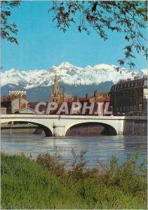 Moderne Karte Grenoble L Isere Le Pont Marius Gontard L Eglise St Andre et la chaine de Belledonne