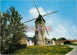 Moderne Karte Au Pays de Monts Moulin a vent
