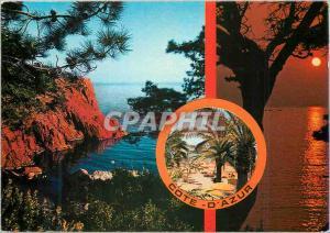 Moderne Karte Calanques et coucher de Soleil Au Soleil de la Cote d'Azur