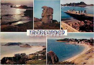 Moderne Karte Trebeurden (C du N) Les Plages et Le Port Bretagne en Couleurs