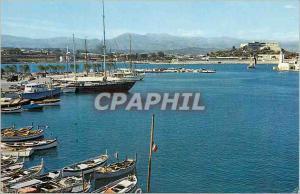 Moderne Karte Antibes (A M)Les Sites Merveilleux de la Cote d'Azur un Coin du Port et au Fond le Fort Carre Ba