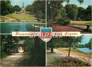 Moderne Karte Cognac (Charente)