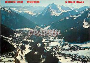 Moderne Karte Vallee de Morzine Montriond (Haute Savoie) Vue Panoramique