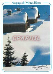Moderne Karte Au Pays du Mont Blanc Manteaux Neigeux