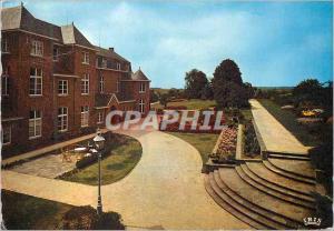 Moderne Karte Maison de Repos St Charles Landenne Meuse Vue du Batiment Cote Parc