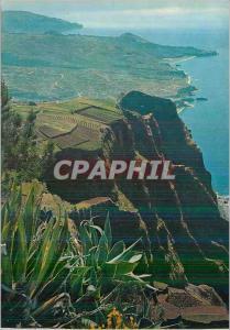 Moderne Karte Madeira Vue prise du Cabo Girao 550m