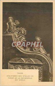Ansichtskarte AK Thann Sculptures des Stalles du Choeur de la Cathedrale XVI Siecle