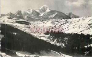 Moderne Karte Morzine (Haute Savoie) Alt 1000 m Le Mont Blanc (4810 m)