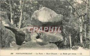 Ansichtskarte AK Fontainebleau la Foret Mont Chauvet la Roche qui Remue