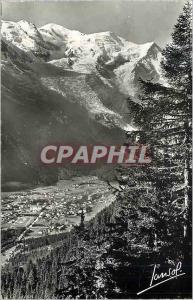 Moderne Karte Chamonix mon blanc alt 1050 m (haute savoie) 621 g vue generale et le mont blanc