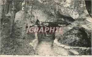 Ansichtskarte AK 170 fontainebleau la foret mont aigu grotte du serment